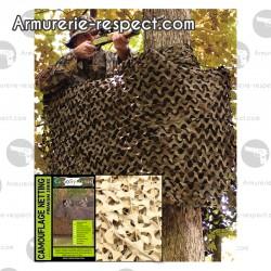 Filet de camouflage basique militaire 3x3 mètres desert