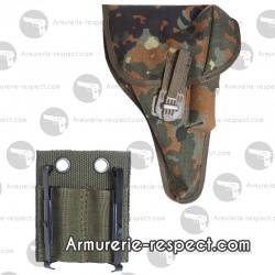 Holster en tissu avec adaptateur camo pour pistolet P1 P38