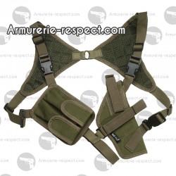 Holster d'épaule vert pour pistolet ou revolver