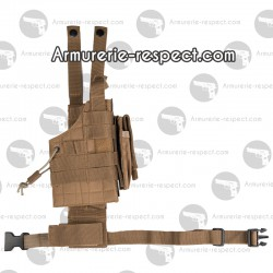 Holster de cuisse coyote ambidextre anti humidité