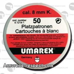 50 cartouches à blanc 8 mm Umarex pour pistolet