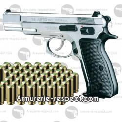 Pack de septembre Chiappa CZ75 nickel et 50 cartouches à blanc