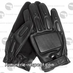 Gants en cuir noir avec renforcements Taille 7 à 11