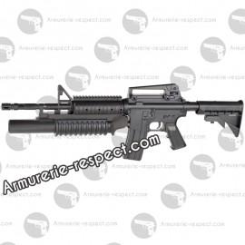 Colt M4 RIS apring avec armement classique & lance grenade 350 billes Energie 0,6 J. Max