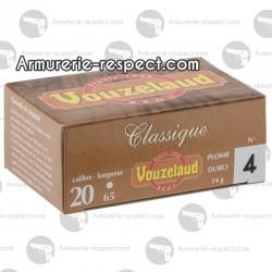 10 cartouches Vouzelaud petit culot calibre 20/65