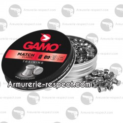 250 plombs plats Gamo match 5.5 mm