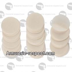100 patchs ronds en coton Pedersoli