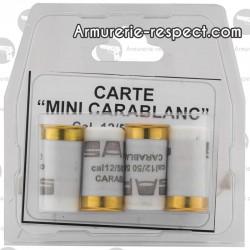 4 cartouches à blanc calibre 12/50 Carablanc