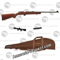 Pack carabine 22LR JW15 + housse + lunette + silencieux