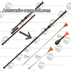 Cold Steel Big Bore Blowgun 625 Magnum en 2 pièces