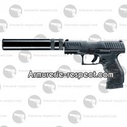 Pistolet Walther PPQ M2 d'alarme 9 mm avec silencieux et malette