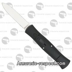 Couteau éjectable noir 007 manche 10.5 cm