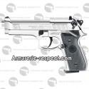 Pistolet à plombs Beretta M92 FS silver full metal 4.5 mm Co2