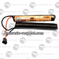 Batterie avec 2 éléments 9.6 V 1600 mAh de type mini
