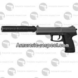 Réplique airsoft pistolet DL60 Socom avec silencieux coup par coup