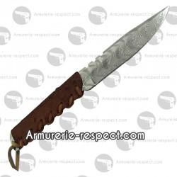 Couteau baby wild damas manche en cuir d'autruche marron Wildsteer