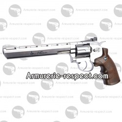 Revolver Dan Wesson nickel crosse style bois 8 pouces à billes d'acier