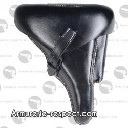 Holster noir pour Luger P08 en cuir