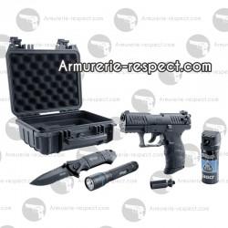 Pack pistolet Walther P22Q R2D kit 9 mm à blanc défense