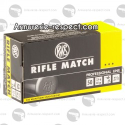 50 cartouches RWS Rifle Match Professional Line 22 LR