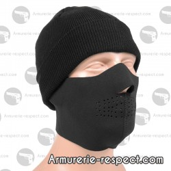 Masque en néoprene noir pour l'airsoft ou le paintball