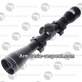 Lunette SWISS ARMS de visee 4x40 avec anneaux montes
