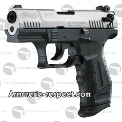 Pistolet alarme Walther P22 culasse nickel 9 mm