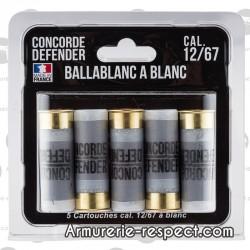 5 cartouches Ballablanc à blanc cal 12/67