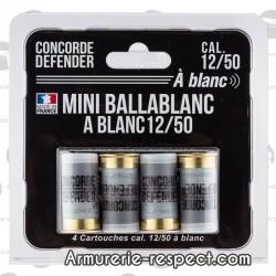 5 cartouches Mini Ballablanc à blanc cal 12/50