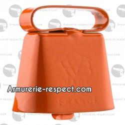 Sonnaillon orange fluo Hélen Baud 3 à 6 cm