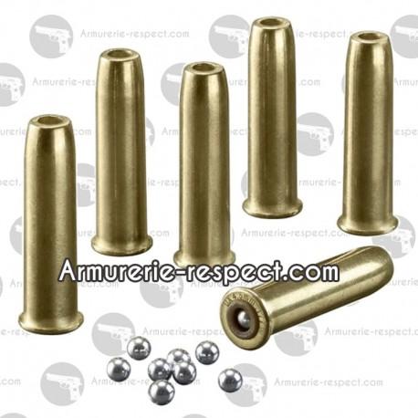 10 douilles pour carabine Legends Cowboy Rifle à billes d'acier 4.5 mm