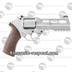 Revolver Chiappa Rhino 50 DS à plombs 4.5mm nickel 3.5 joules