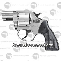 Revolver Röhm RG59 chromé crosse noire 9 mm à blanc