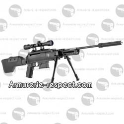Carabine à plombs Black Ops Sniper cal 4.5 mm avec silencieux et bipied