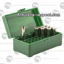 Boite Megaline de rangement 50 munitions 357 magnum