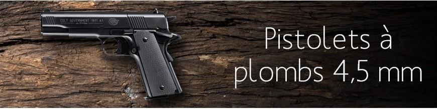 Pistolets à plombs 4.5 mm